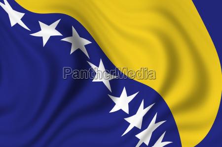 flag of bosnien herzegowina