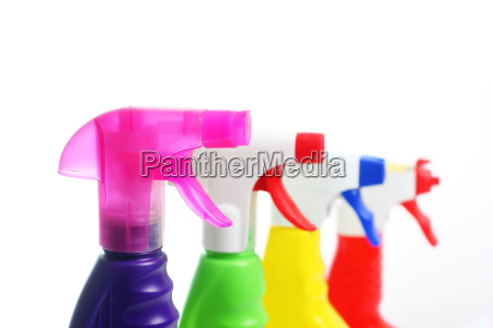 cleaners in spray bottles