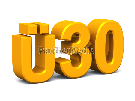 UE30 3d text fuer party