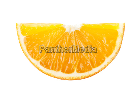 perfect orange boat isolated on white