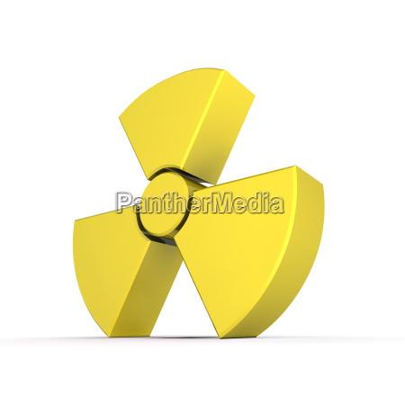 glaenzendes gelbes kernsymbol