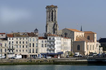 quay of la rochelle in france