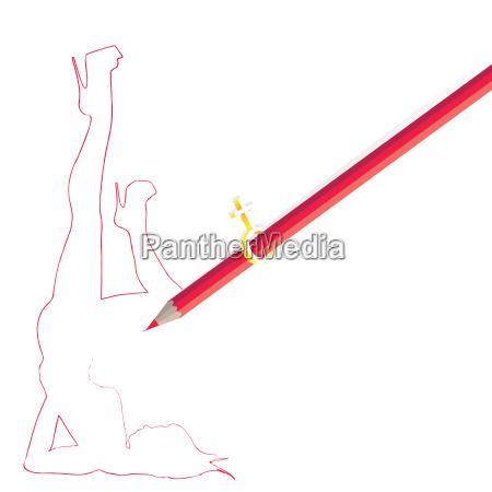 pencil drawing woman figure