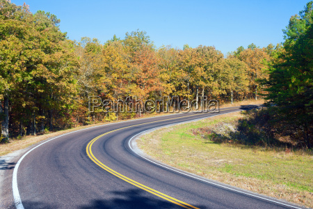 autumn or fall highway