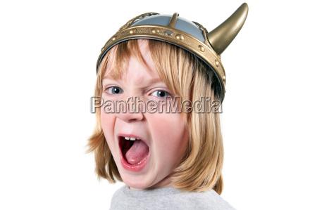 child viking angry