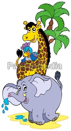cartoon, afrikanische, tiere - 4392141