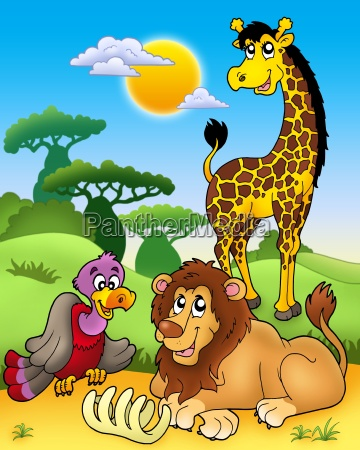 group of various african animals 3