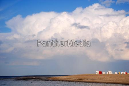 nordsee strand und regenbogen