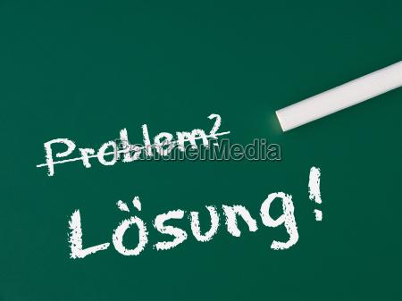 problem solution business concept