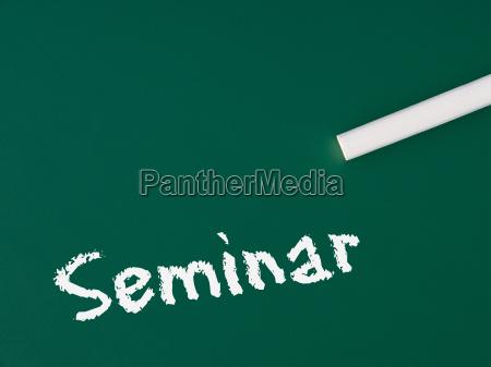 seminar chalkboard