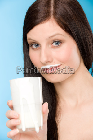healthy lifestyle woman drink milk