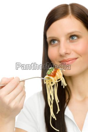 italian food healthy woman eat