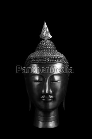 antik skulptur buddha metall frieden altertuemlich