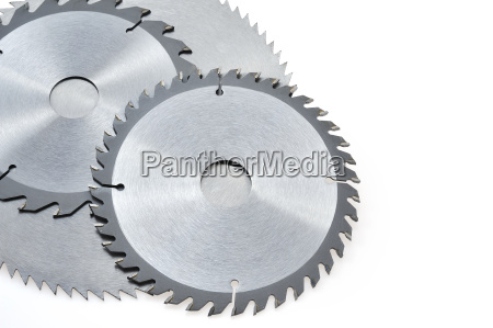 circular saw blades for wood isolated