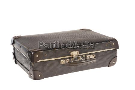 alte retro stil reisekoffer auf weissem