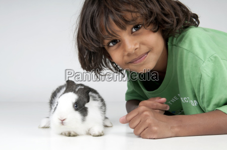 boy with pet