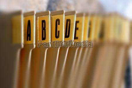alphabetisch ablagekorb