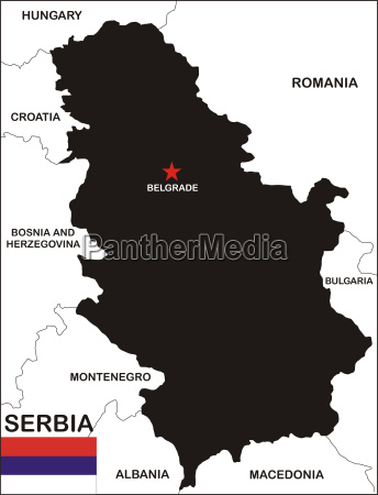 serbia karte