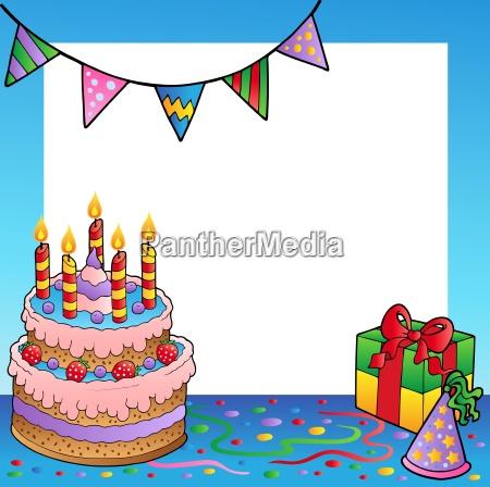 frame with birthday theme 1