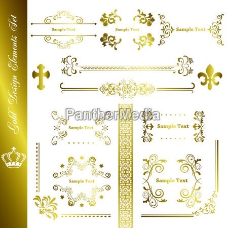 gold elemente set