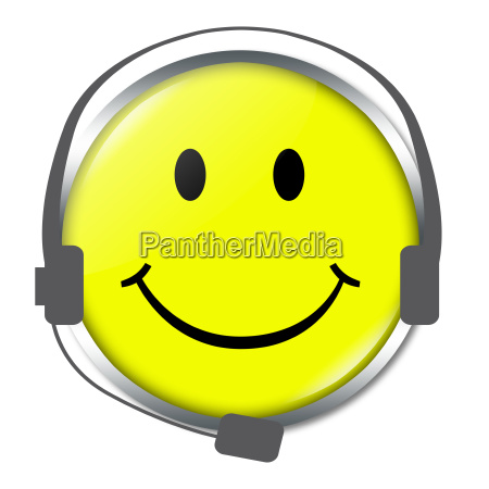 smiley mit headphone