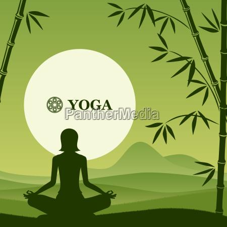yoga und pilates hintergrund