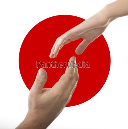 helfende hand fuer japan