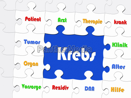krebs konzept bild puzzle