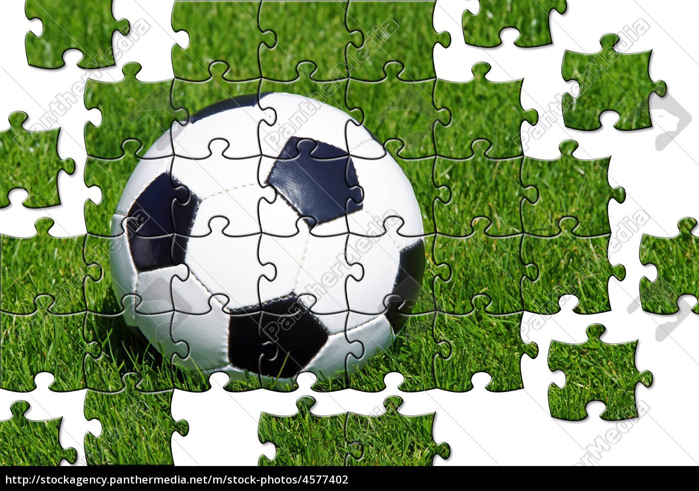 Stock Bild 4577402 Fussball Puzzle