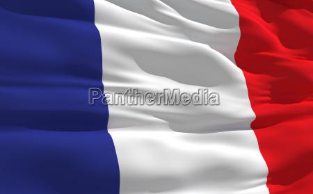 winkenden flagge von frankreich