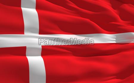 winkenden flagge von daenemark