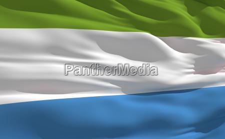 winkenden fahne von sierra leone