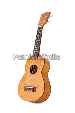 ukulele auf weissem hintergrund
