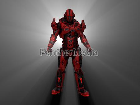 futuristischer soldat