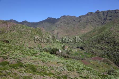 anaga mountain in tenerife canary islands