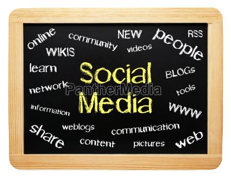 social media modern business concept