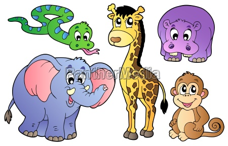 set nette afrikanische tiere