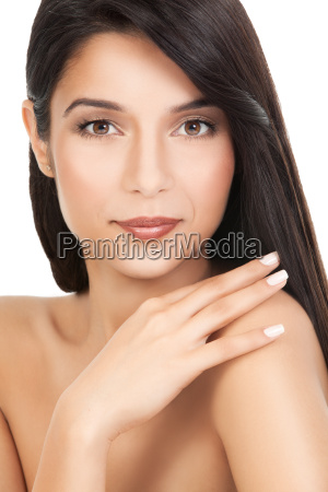beauty portrait of a young woman