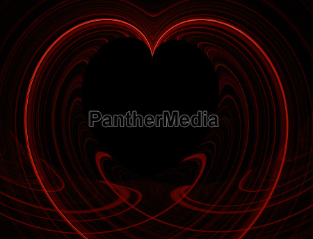 red and black heart copy space