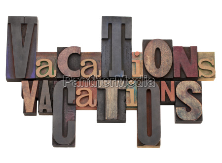 vacations word abstract