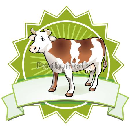 cow badge