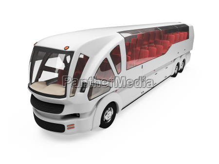 future concept of bus isolated view
