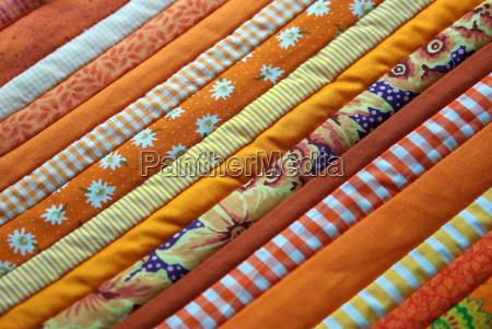 stoff stoffmuster patchwork muster orange gemustert