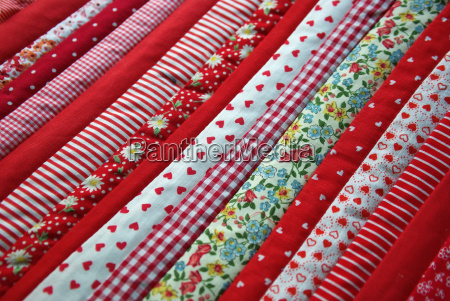 Stoff, Stoffmuster, Patchwork, Muster, rot, gemustert - 4651800