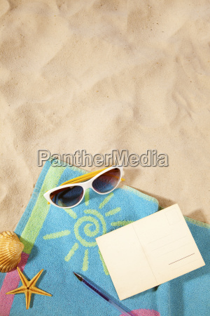 beach and travel concept