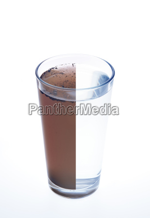clean and dirty water in one