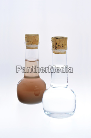 sample of clean and dirty water