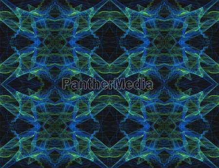seamless pattern in blue green and