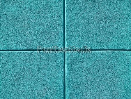 vier teal oder aqua blue plaetze