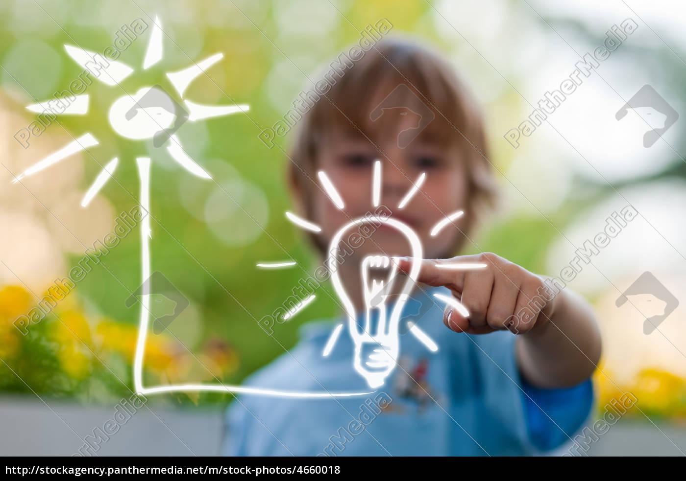 kind, plant, haus, und, energie - 4660018